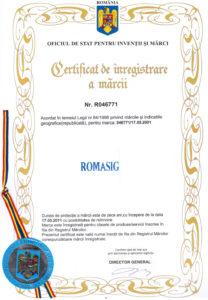 ROMASIG - Marca Inregistrata