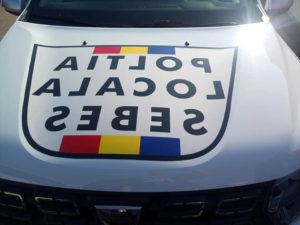 Un Duster al Politiei Locale Sebes a fost inscriptionat eronat si a amuzat internautii