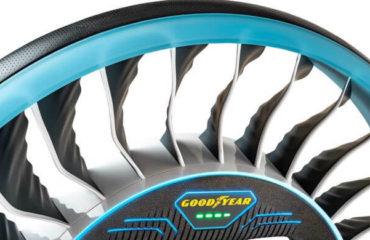 Pneurile care nu au nevoie de aer bune si pentru masinile zburatoare. Goodyear: un nou concept! Video!