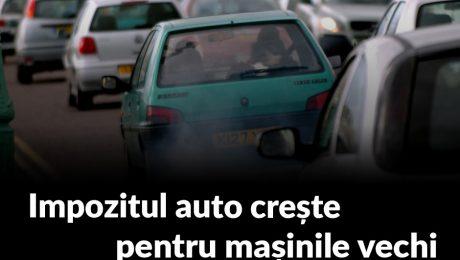 Impozitul auto se mărește pentru mașinile vechi.